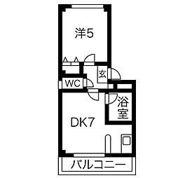 カーサソフィアIII[3B号室]の間取り