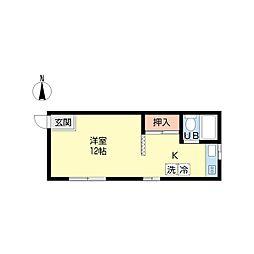 新潟県新潟市中央区本町通12番町の賃貸アパートの間取り