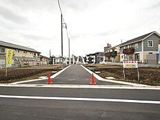 接道状況および現場風景 昭島市田中町1丁目