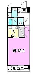エイデンビル中須賀[502 号室号室]の間取り