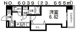 Luxe難波西III(ラグゼ難波西III) 5階1Kの間取り