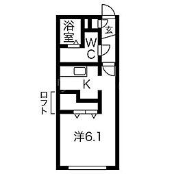 S−FORT学園前[3階]の間取り