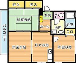 アルカディア C棟[2階]の間取り
