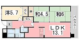 ラブリー姫路英賀保[410号室]の間取り