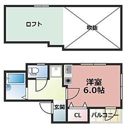 フルール西岡本[4階]の間取り