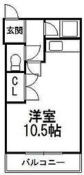 ハイツ・フランセ円山[406号室]の間取り