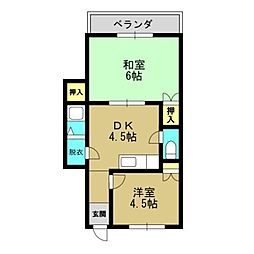サンロードマンション[4階]の間取り