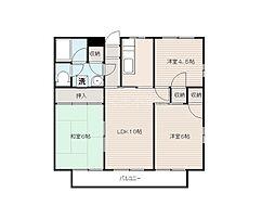 ガーデンヒル[1階]の間取り