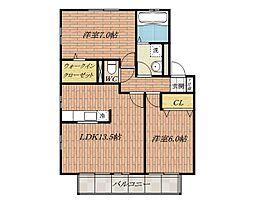 グランシャリオ[2階]の間取り