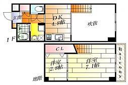 ハイムラポールパート7 地下1階1SDKの間取り