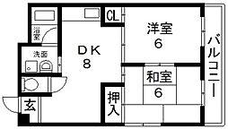 コーポ谷村I[201号室号室]の間取り