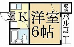 新山荘[3階]の間取り