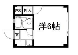 プチパレ[103号室]の間取り