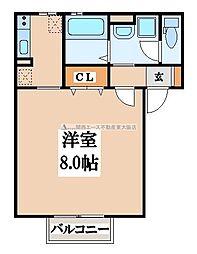 サンハイツ横沼[1階]の間取り