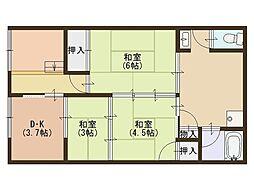 北側平屋[1階]の間取り