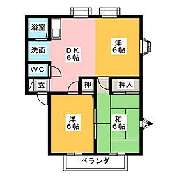 MEMORIAL KAMIYA A棟[2階]の間取り