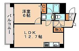ラスティング銭通[3階]の間取り