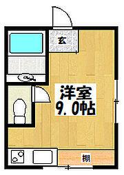 「パールハイム深江橋[605 6階号室]の間取り