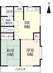 Majesty松本 A棟[101号室]の間取り