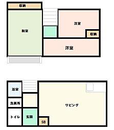 [テラスハウス] 神奈川県厚木市温水 の賃貸【神奈川県 / 厚木市】の間取り