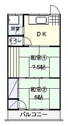 臼井荘[7号室]の間取り