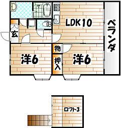 エクセル安部山[6階]の間取り