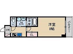 ブラントワール茨木[5階]の間取り