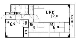 セブングレイス[4階]の間取り