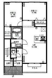 ガーデンホーム[1階]の間取り