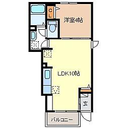 ジェルメI[1階]の間取り