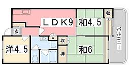 第2サンライフマンション[402号室]の間取り