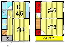 [一戸建] 東京都葛飾区新宿4丁目 の賃貸【/】の間取り