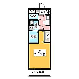 フラットワン・原[3階]の間取り