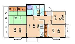 プレリュード東那珂[4階]の間取り