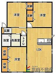 エコロジースクエア須玖南B棟[1階]の間取り