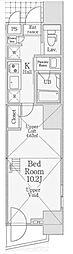信栄タワー[4階]の間取り