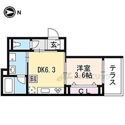 (新築)仮)シャーメゾン太秦安井藤ノ木町 1階1DKの間取り