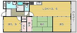 マンション菱永II[2階]の間取り