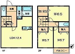 [テラスハウス] 奈良県奈良市敷島町1丁目 の賃貸【/】の間取り