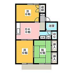 グリーンガーデンハイツ C棟[1階]の間取り