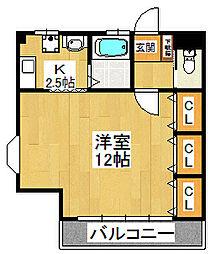 田尻アパート[2階号室]の間取り