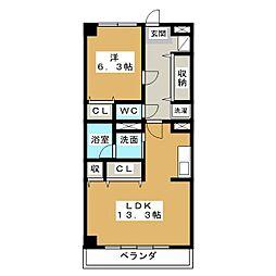 AMI加納 II[3階]の間取り