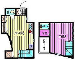埼玉県戸田市上戸田5丁目の賃貸アパートの間取り