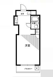 神奈川県川崎市多摩区中野島2丁目の賃貸マンションの間取り