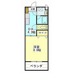 カミーノ・S[2階]の間取り