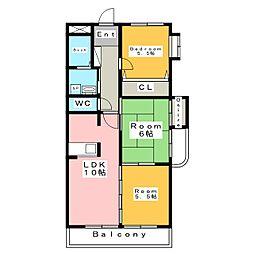 ブルーパレス[4階]の間取り