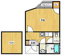 コンフォートベネフィス六本松[2階]の間取り