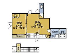 東京都大田区田園調布2丁目の賃貸アパートの間取り