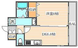 メルベーユ博多[8階]の間取り