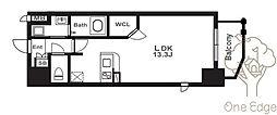 アーバンパーク梅田ウエスト 5階ワンルームの間取り